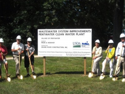 Pentwater Clean Water Plant Breaks Ground
