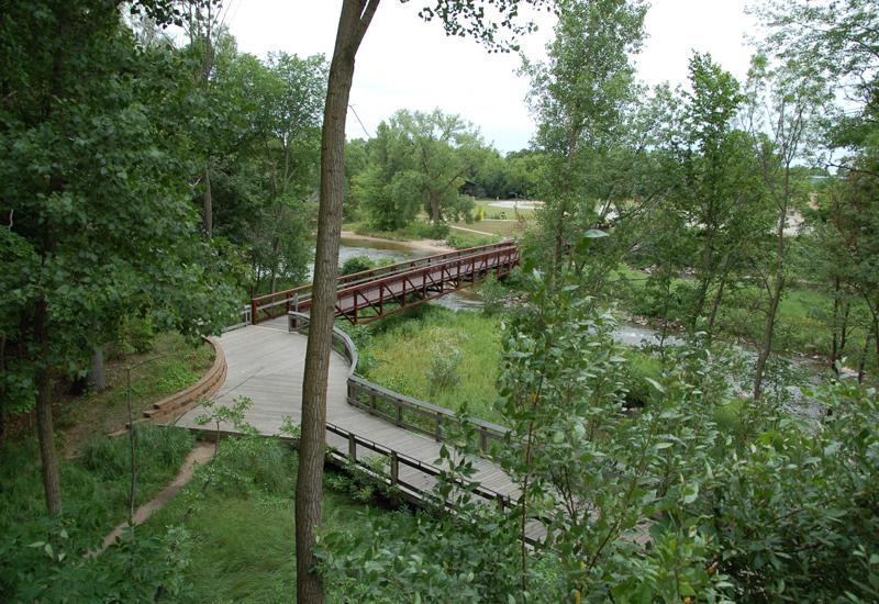 trail boardwalk and bridge