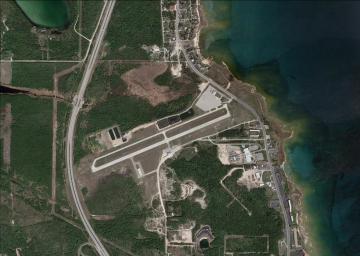 mackinaw county airport aerial