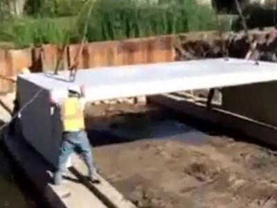 Video: East Grand Rapids' new bridge taking shape