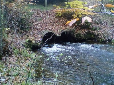 Tributaries along Hart-Montague Trail get New Culverts and Bridge