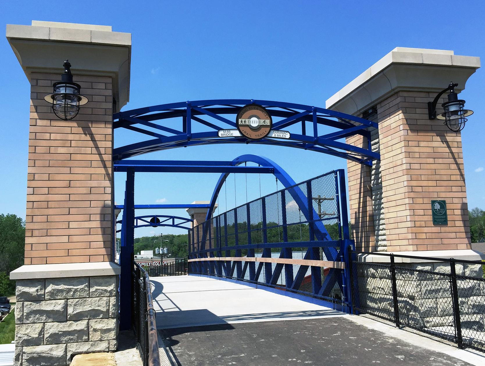 trail bridge over road