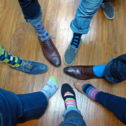 "In memory of Eric and his affinity for ""fun"" socks, P&N employees donned their most fun socks for a theme Friday."