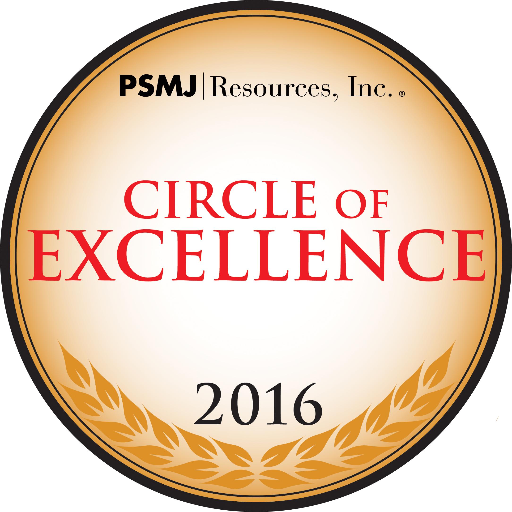2016 PSMJ Circle of Excellence logo