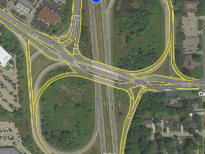 New interchange corrects traffic hazards at Cascade Road and I-96 in Grand Rapids