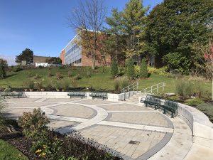 Community based civil engineering project, a paved pavillion.