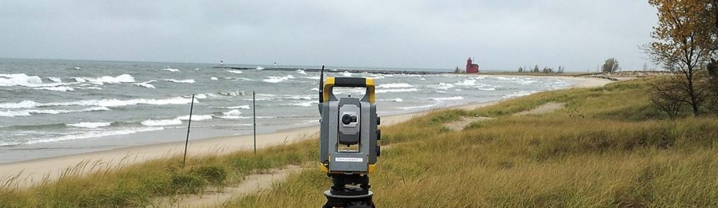 Survey equipment lake michigan