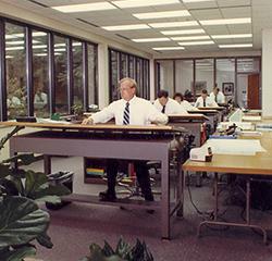 civil engineers working at drafting boards