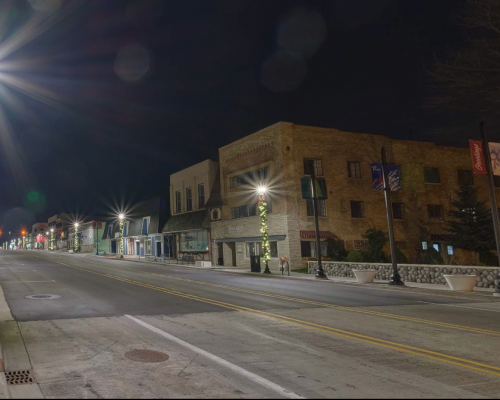 Downtown Whitehall at Night - Winter 2017